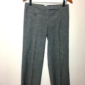 Poleci gray wide legs mid rise casual trouser 6
